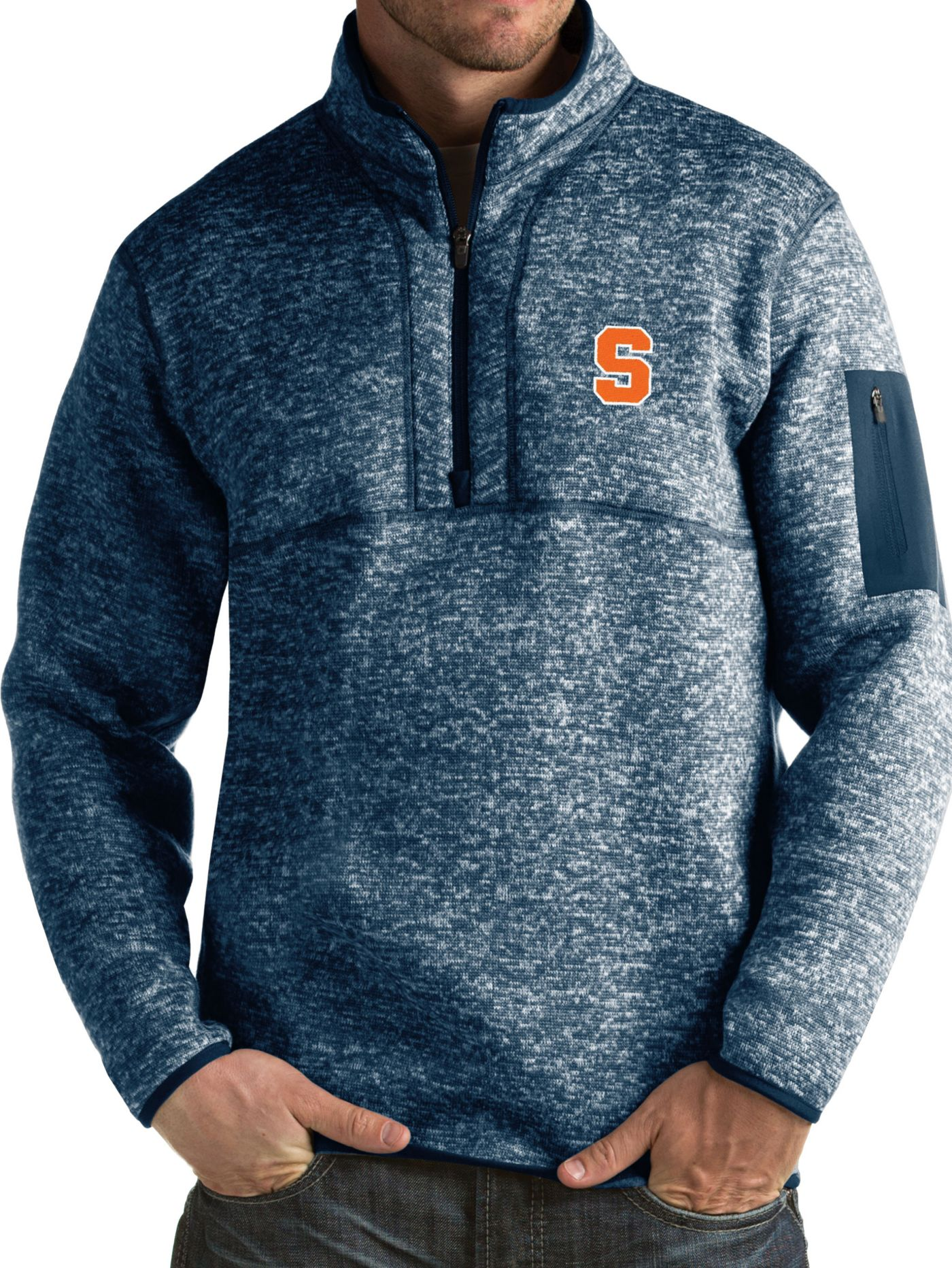 Antigua Men's Syracuse Orange Blue Fortune Pullover Jacket