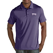 Antigua Men's TCU Horned Frogs Purple Quest Polo