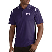 Antigua Men's TCU Horned Frogs Merit Xtra-Lite White Polo
