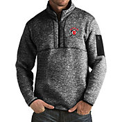 Antigua Men's Utah Utes Black Fortune Pullover Jacket