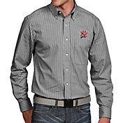 Antigua Men's Utah Utes Black Associate Button Down Long Sleeve Shirt