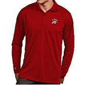 Antigua Men's Utah Utes Crimson Exceed Long Sleeve Polo