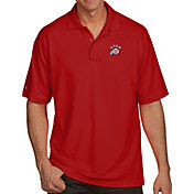 Antigua Men's Utah Utes Crimson Pique Xtra-Lite Polo