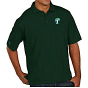 Antigua Men's Tulane Green Wave Olive Pique Xtra-Lite Polo