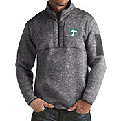 Antigua Men's Tulane Green Wave Grey Fortune Pullover Jacket