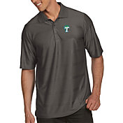 Antigua Men's Tulane Green Wave Grey Illusion Polo