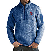 Antigua Men's Tulsa Golden Hurricane Blue Fortune Pullover Jacket