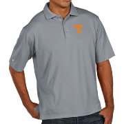 Antigua Men's Tennessee Volunteers Grey Pique Xtra-Lite Polo