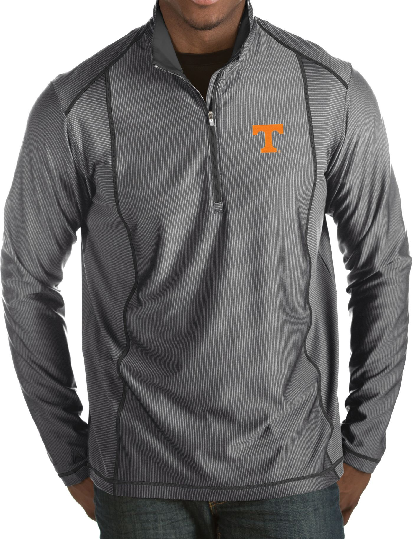 Antigua Men's Tennessee Volunteers Gray Tempo Half-Zip Pullover