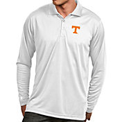 Antigua Men's Tennessee Volunteers White Exceed Long Sleeve Polo
