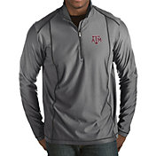 Antigua Men's Texas A&M Aggies Grey Tempo Half-Zip Pullover