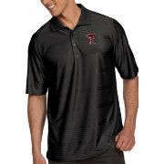 Antigua Men's Texas Tech Red Raiders Black Illusion Polo