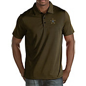 Antigua Men's Vanderbilt Commodores Black/Gold Quest Polo