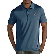 Antigua Men's Virginia Cavaliers Blue/White Quest Polo