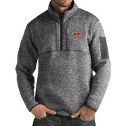 Antigua Men's Virginia Tech Hokies Grey Fortune Pullover Jacket