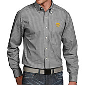 Antigua Men's Iowa Hawkeyes Black Associate Button Down Long Sleeve Shirt