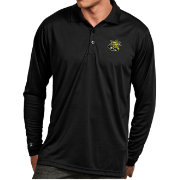 Antigua Men's Wichita State Shockers Black Exceed Long Sleeve Polo