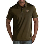 Antigua Men's Wake Forest Demon Deacons Black/Gold Quest Polo