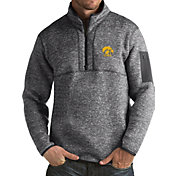 Antigua Men's Iowa Hawkeyes Grey Fortune Pullover Jacket