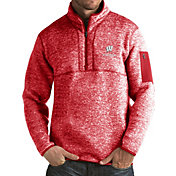 Antigua Men's Wisconsin Badgers Red Fortune Pullover Jacket