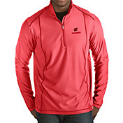 Antigua Men's Wisconsin Badgers Red Tempo Half-Zip Pullover
