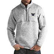 Antigua Men's Washington Huskies Grey Fortune Pullover Jacket