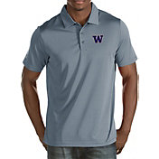 Antigua Men's Washington Huskies Grey Quest Polo