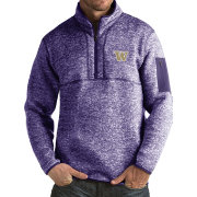 Antigua Men's Washington Huskies Purple Fortune Pullover Jacket