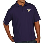 Antigua Men's Washington Huskies Purple Pique Xtra-Lite Polo