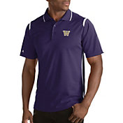 Antigua Men's Washington Huskies Merit Xtra-Lite White Polo