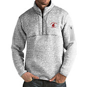 Antigua Men's Washington State Cougars Grey Fortune Pullover Jacket