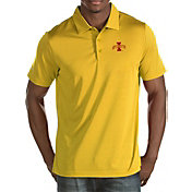 Antigua Men's Iowa State Cyclones Gold Quest Polo