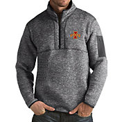 Antigua Men's Iowa State Cyclones Grey Fortune Pullover Jacket