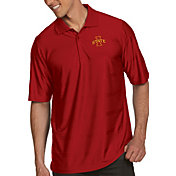 Antigua Men's Iowa State Cyclones Cardinal Illusion Polo