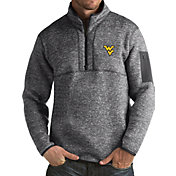 Antigua Men's West Virginia Mountaineers Grey Fortune Pullover Jacket