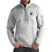 Antigua Men's Xavier Musketeers Grey Fortune Pullover Jacket