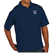 Antigua Men's Xavier Musketeers Blue Pique Xtra-Lite Polo