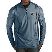 Antigua Men's Xavier Musketeers Blue Tempo Half-Zip Pullover