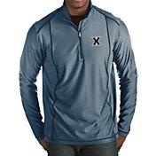Antigua Men's Xavier Musketeers Blue Tempo Half-Zip Pullover