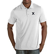 Antigua Men's Xavier Musketeers White Quest Polo