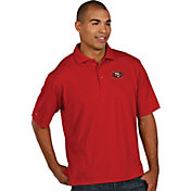 Antigua Men's San Francisco 49ers Pique Xtra-Lite Red Polo