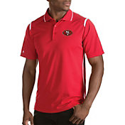 Antigua Men's San Francisco 49ers Merit Red Xtra-Lite Polo