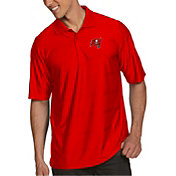 Antigua Men's Tampa Bay Buccaneers Illusion Red Xtra-Lite Polo