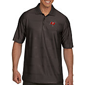 Antigua Men's Tampa Bay Buccaneers Illusion Grey Xtra-Lite Polo