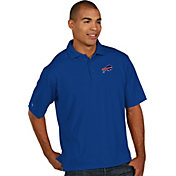 Antigua Men's Buffalo Bills Pique Xtra-Lite Royal Polo