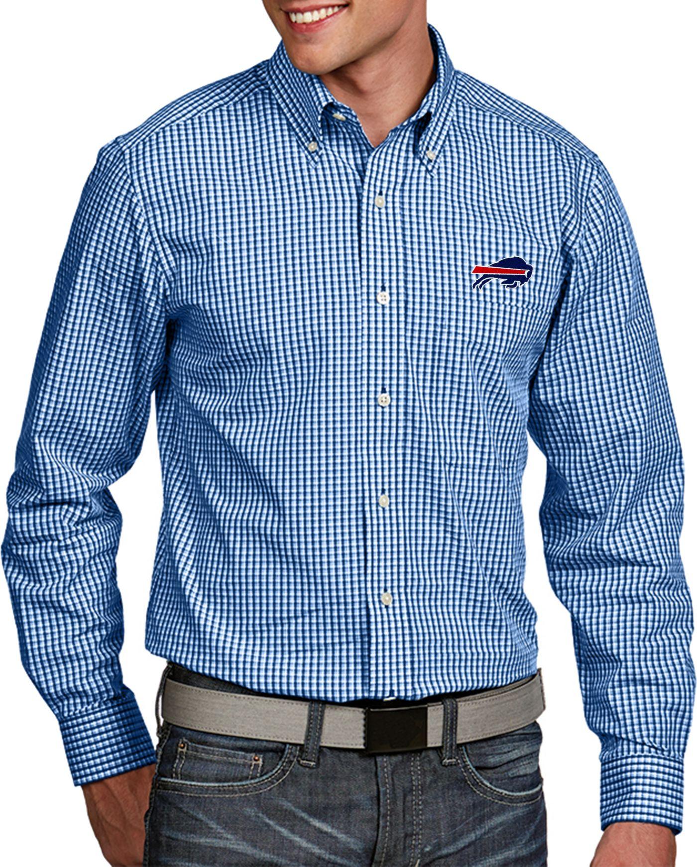 Antigua Men's Buffalo Bills Associate Button Down Dress Shirt