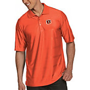 Antigua Men's Cincinnati Bengals Illusion Orange Xtra-Lite Polo