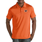 Antigua Men's Cincinnati Bengals Quest Orange Polo