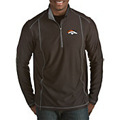 Antigua Men's Denver Broncos Tempo Black Quarter-Zip Pullover