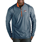 Antigua Men's Denver Broncos Tempo Navy Quarter-Zip Pullover